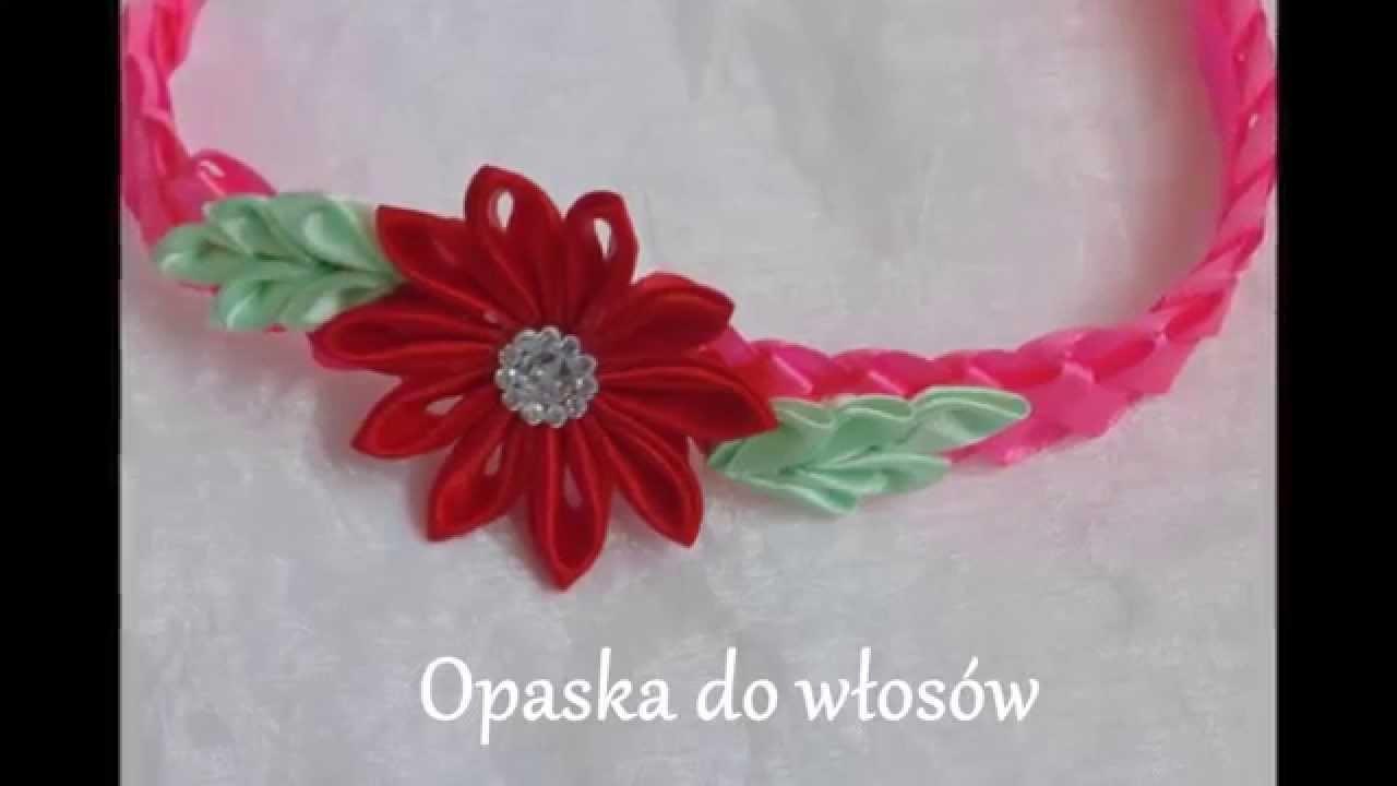 Kanzashi: Opaska do włosów, bransoletka. samochodziara.blogspot.com
