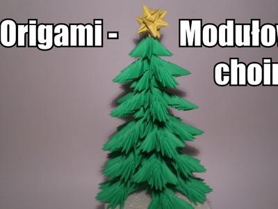 Origami - Modułowa choinka