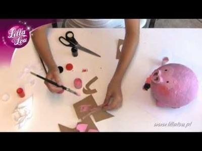 DIY Lilla Lou - Pingwin z paper mache