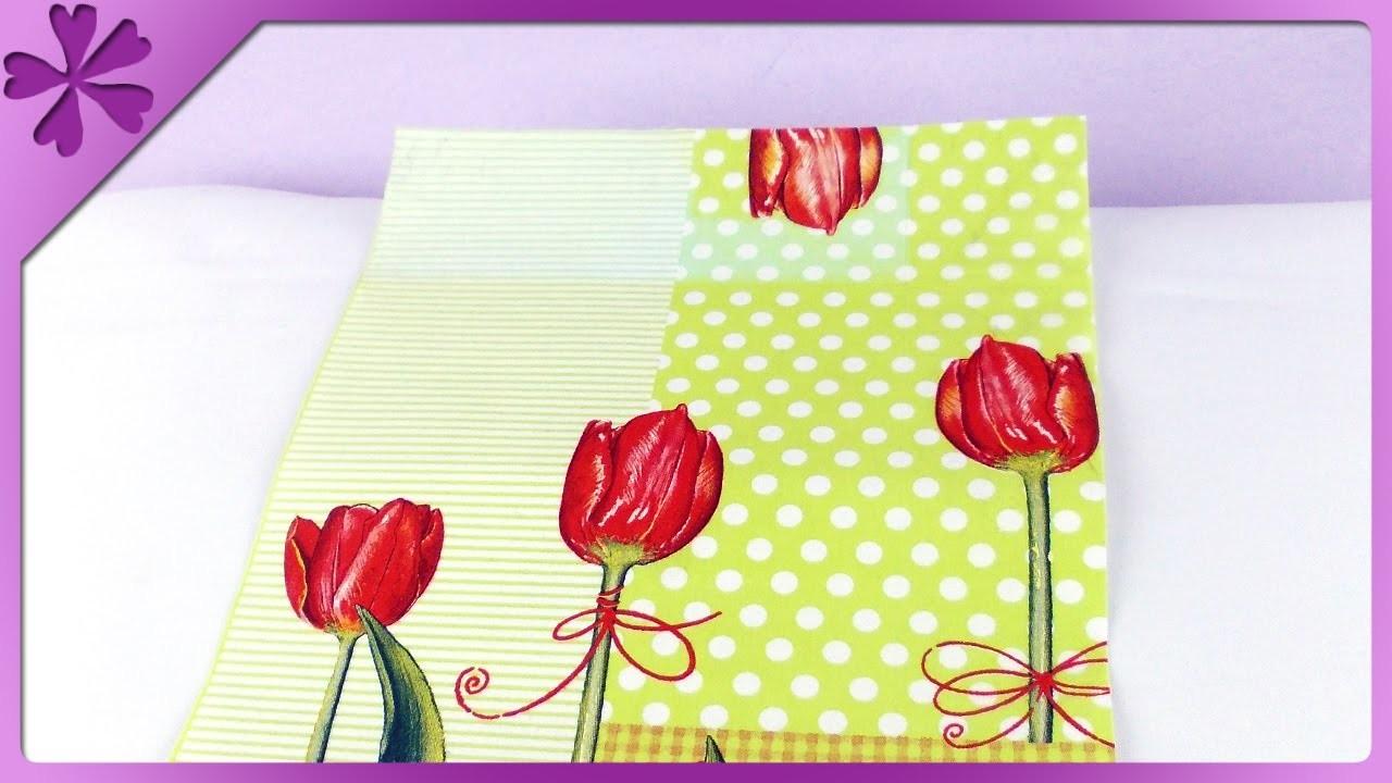 DIY Ozdobny papier z serwetek. Decorative napkin paper (+ENG Subtitles) - Na szybko #98