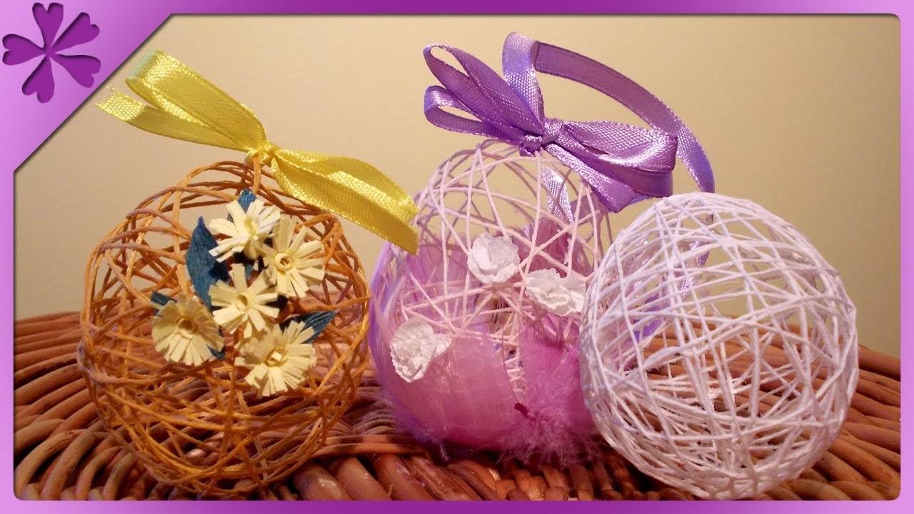 DIY Pisanki z włóczki. Twine Easter Eggs (+ENG Annotations) - Na szybko #1
