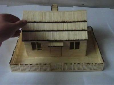 Domek z zapałek