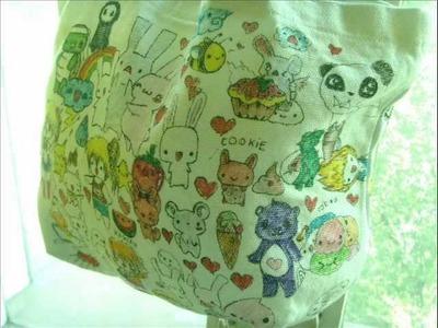 Handmade old ugly bag to new manga kawaii harajuku tokidoki bag