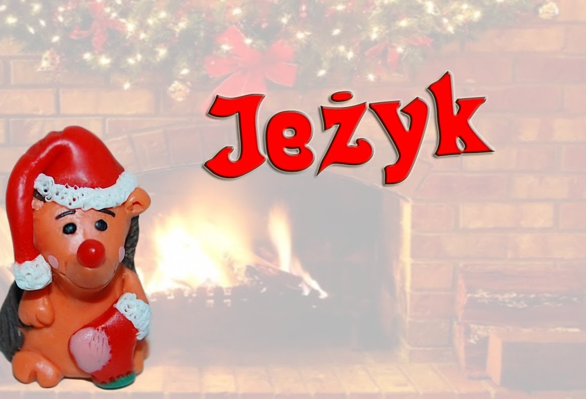 Lepiołki: Jeż ☃ TUTORiAL ☃ polymer clay, made hand