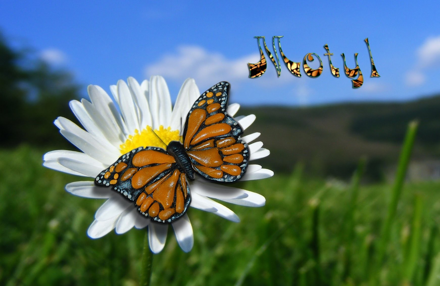 Lepiołki: Motyl , butterfly (polymer clay) TUTORiAL
