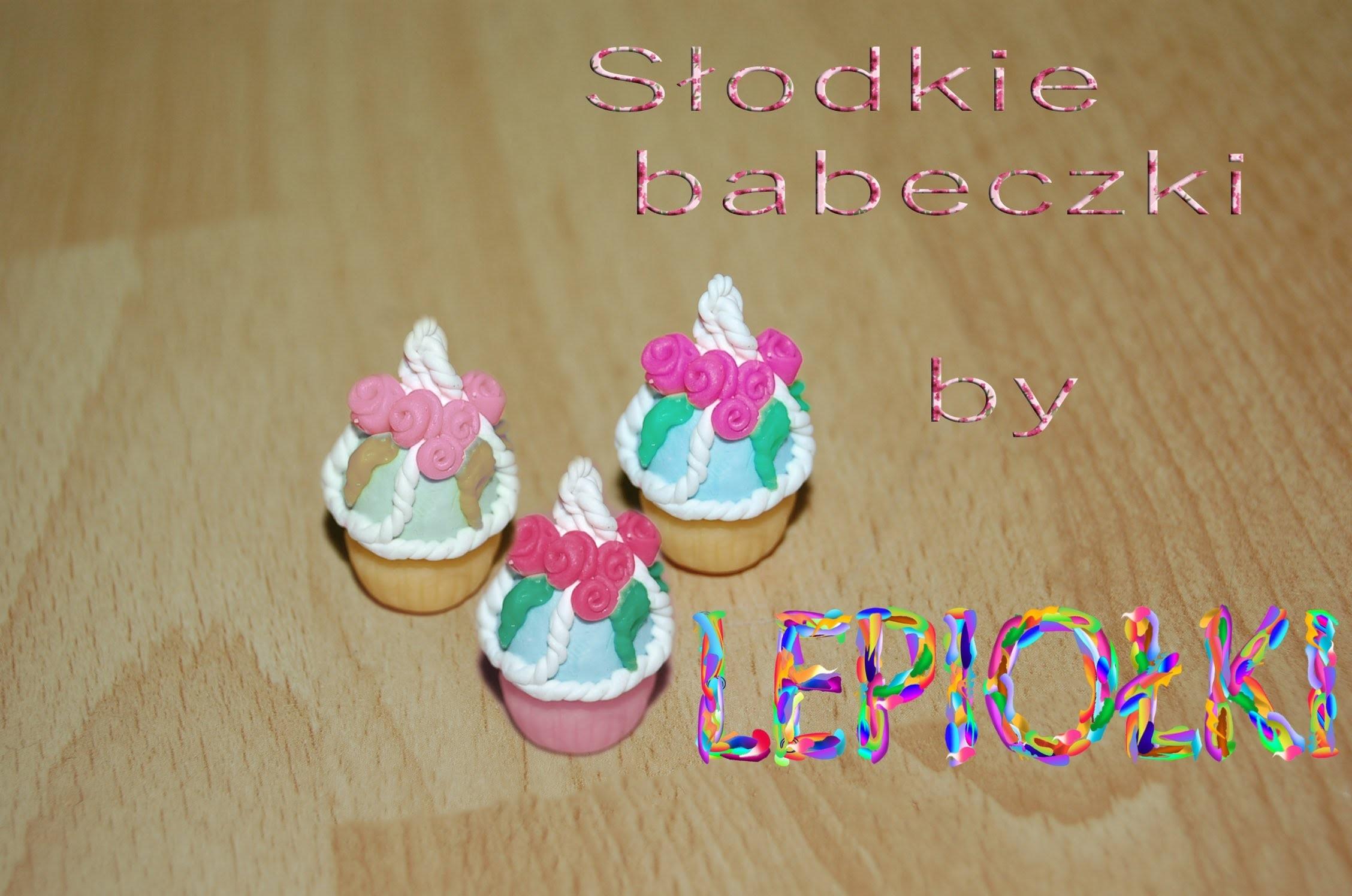 Lepiołki: Słodki muffinek, sweet muffins TUTORIAL, polymer clay, made hand,