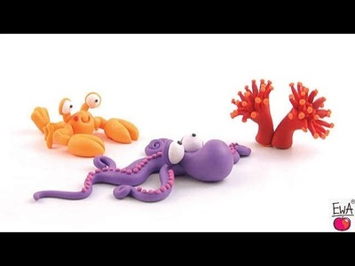 LET'S CLAY! Easy OCTOPUS - OSMIORNICZKA Z MODELINY - tutorial polymer clay