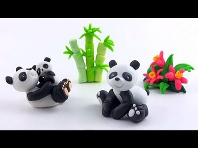 LET'S CLAY! Panda z modeliny - polymer clay tutorial