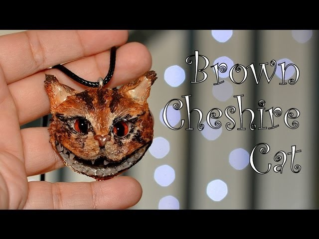 Modelinowy Kot z Cheshire. Polymer clay Cheshire Cat [TUTORIAL]