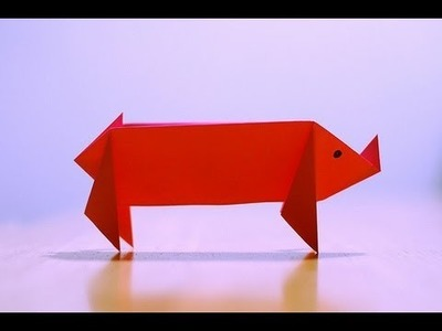 Origami - Jak zrobić świnkę