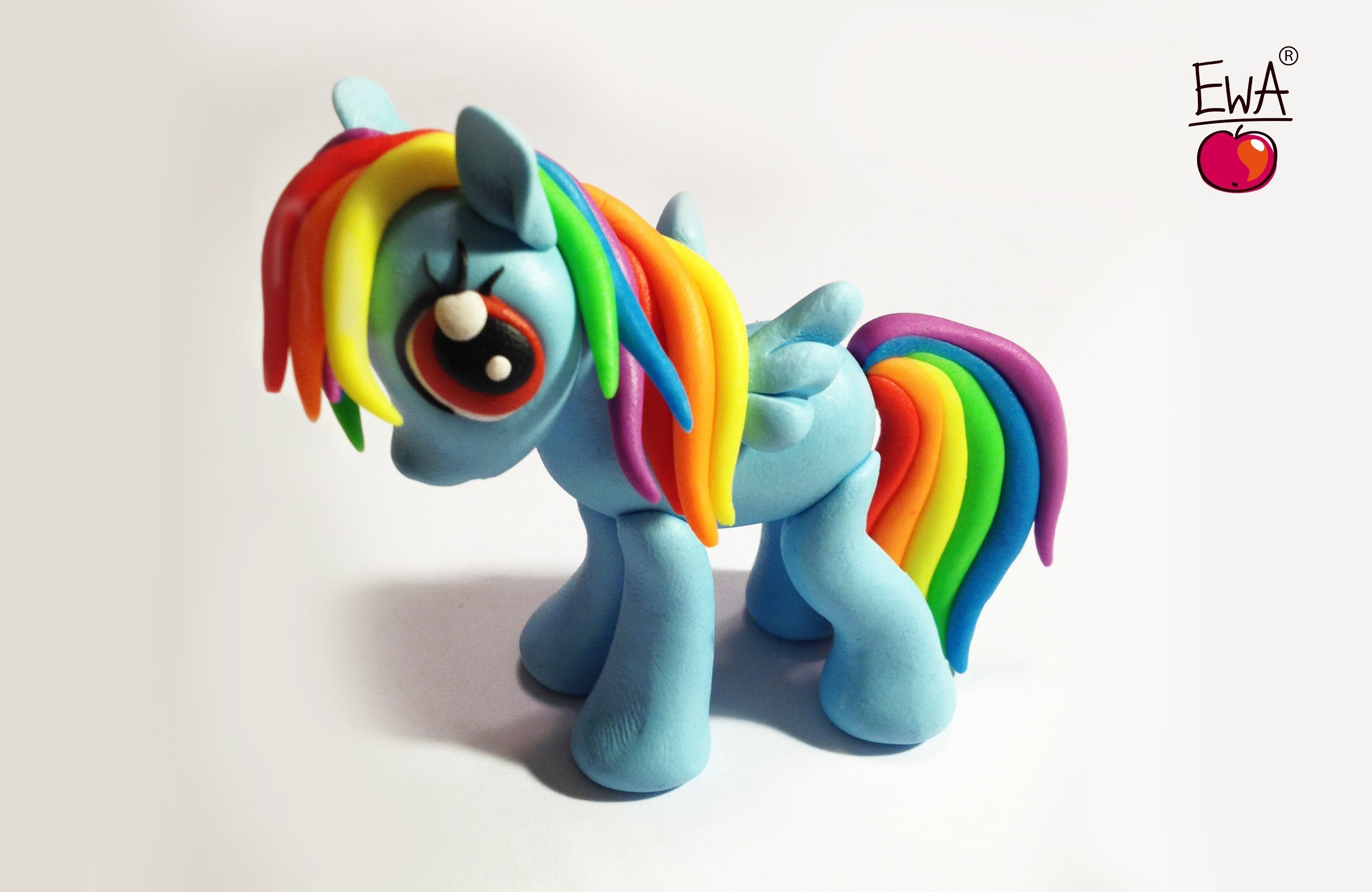 RAINBOW DASH - polymer clay - photo version - ponik z modeliny
