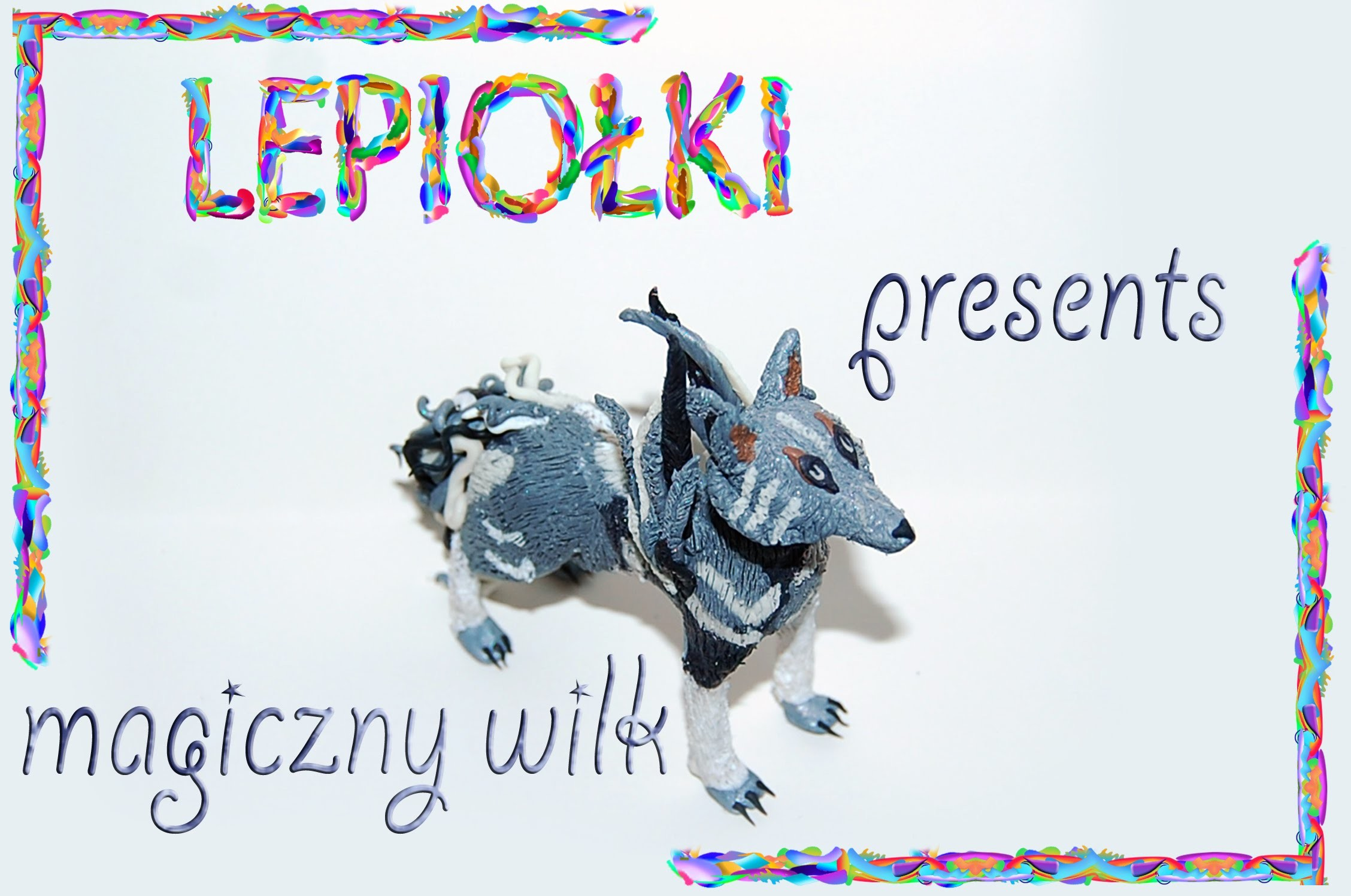 TUTORIAL: Magiczny wilk magical wolf PART 2 polymer clay made hand lepiołki z modeliny