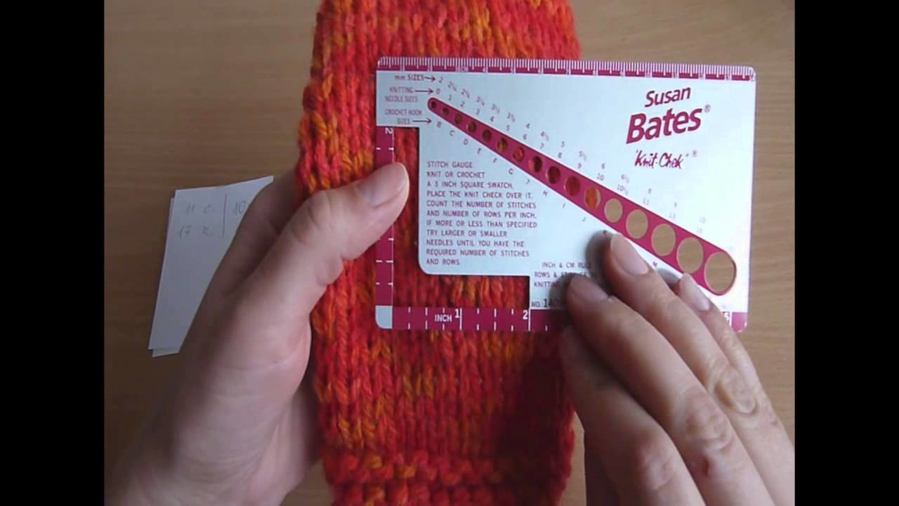 1-20 próbka dzianiny || knitting gauge