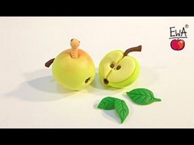 APPLE polymer clay tutorial – JABŁUSZKO z modeliny