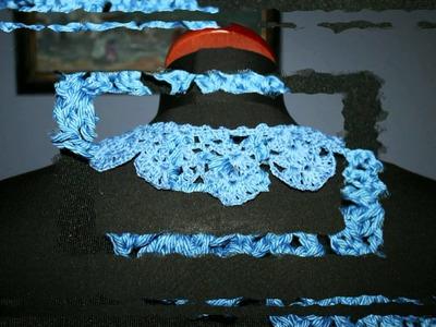 Blue crochet collar szydełkowy kołnierz
