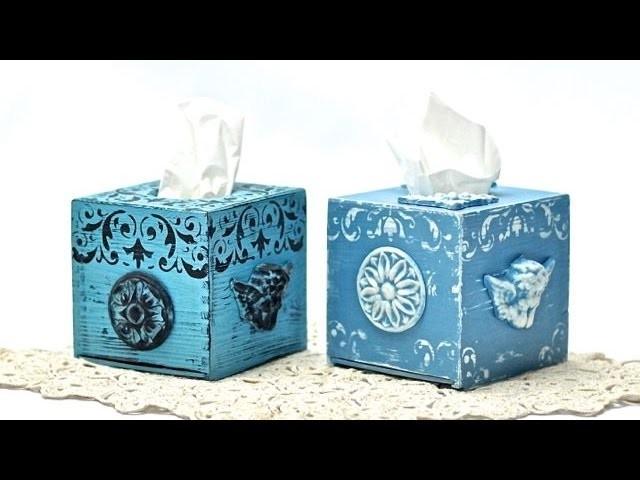 Chustecznik z gipsowymi aniołkami - tutorial  DIY