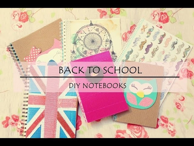 D.I.Y #5 Back To School - DIY Notebooks anna-koper.blogspot.com