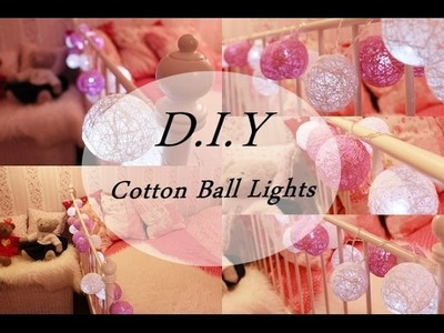 D.I.Y # 6 Room Decorations! Cotton Ball Lights anna-koper.blogspot.com