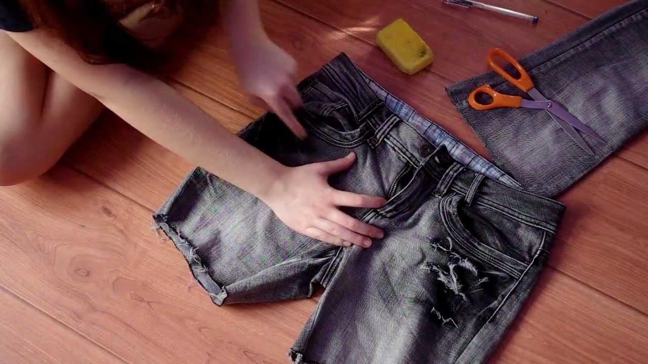 #DIY Jak obciąć spodnie i zrobić dziury