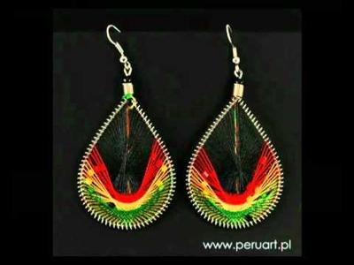 Egzotyczne kolczyki z Peru - Rękodzieło