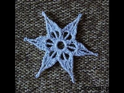 Gwiazdka (śnieżynka) na szydełku - kurs szydełkowania