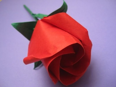 How to make an origami rose. Jak zrobić różę origami