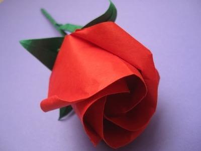 How to make an origami rose. Jak zrobić różę origami