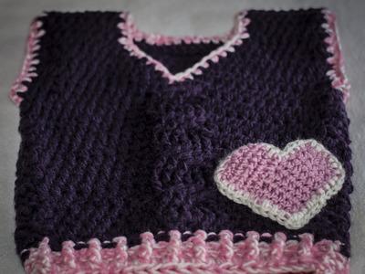 Kamizelka na szydełku cz  2+ ścieg warkocz. crochet vest part 1+ braid stitch crochet