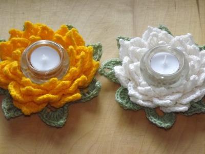 Kwiat lotosu - świecznik - Szydełkowanie bez tajemnic