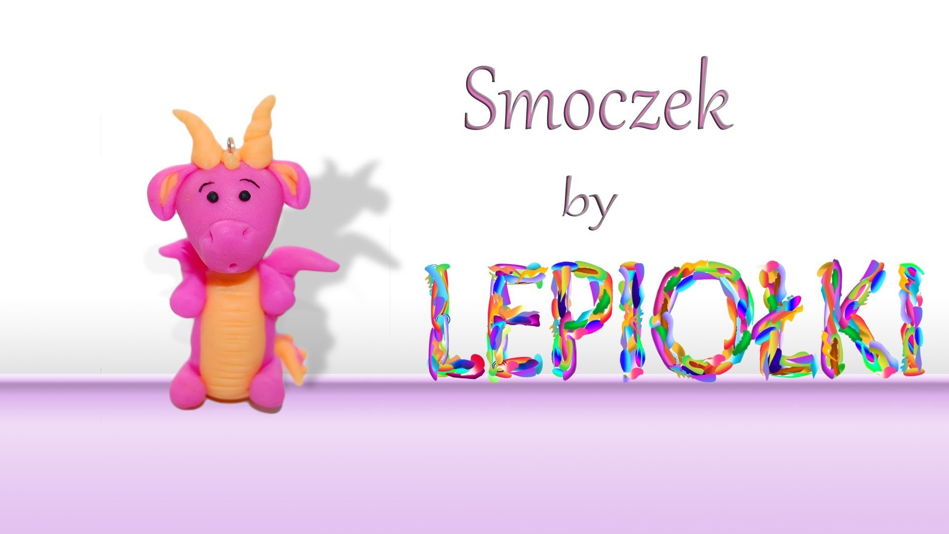 Lepiołki: Smoczek,small dragon TUTORIAL, polymer clay, made hand