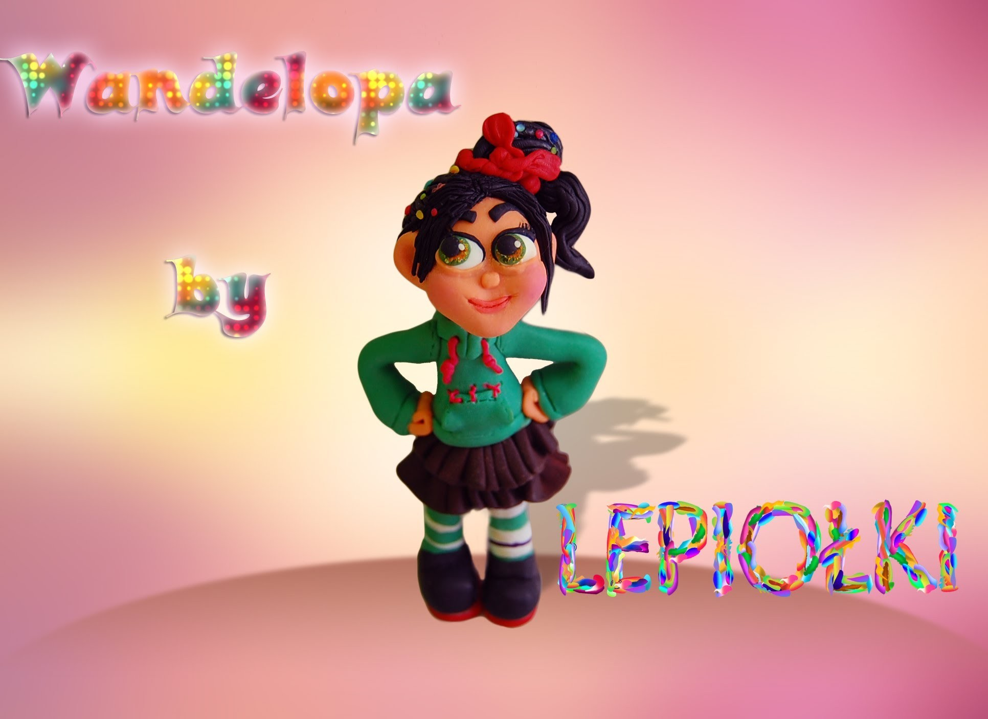 Lepiołki: Wandelopa cz. 1,  Vanellope part 1 TUTORIAL, polymer clay, made hand