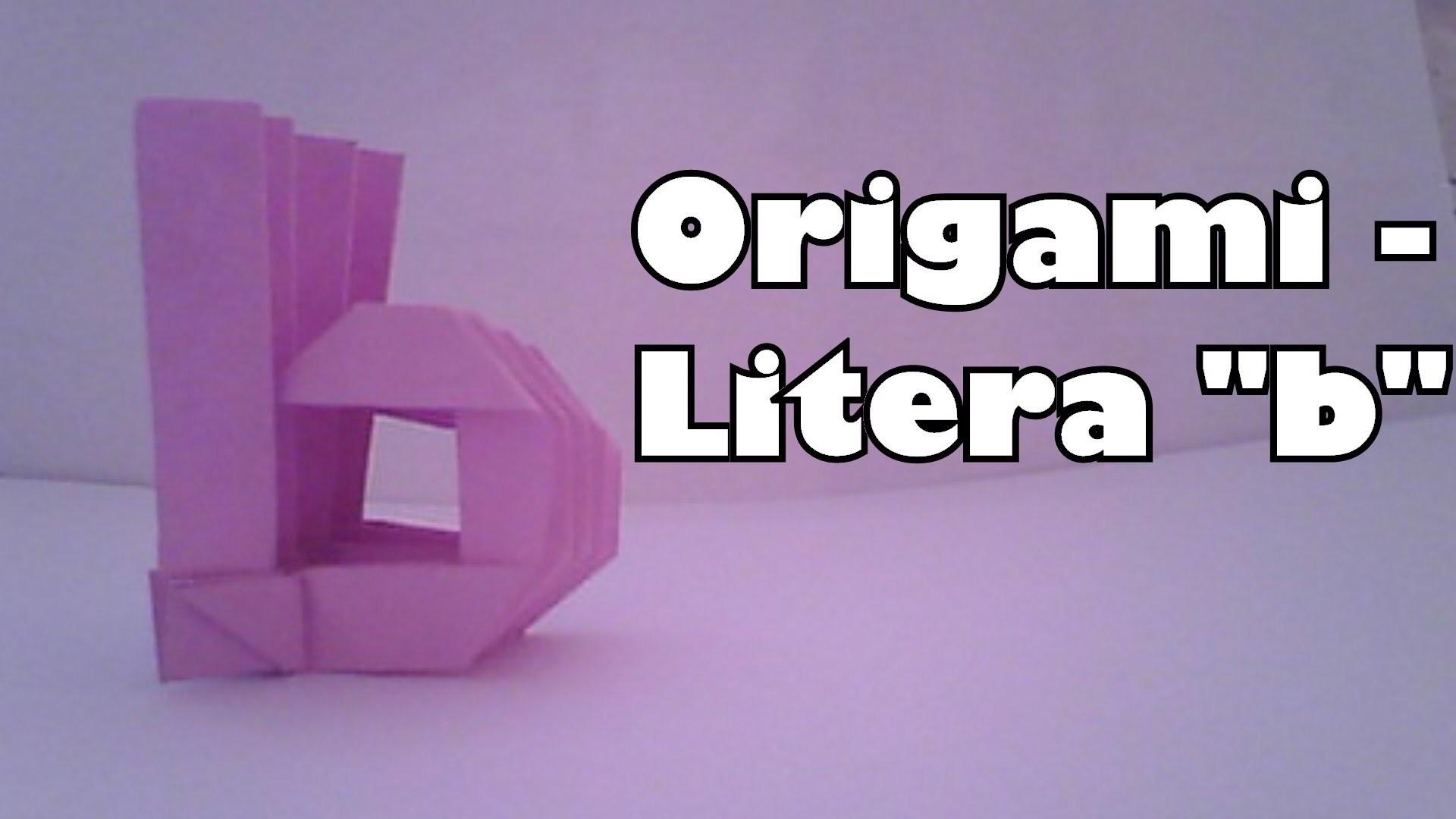 """Origami - Litera """"b"""""""