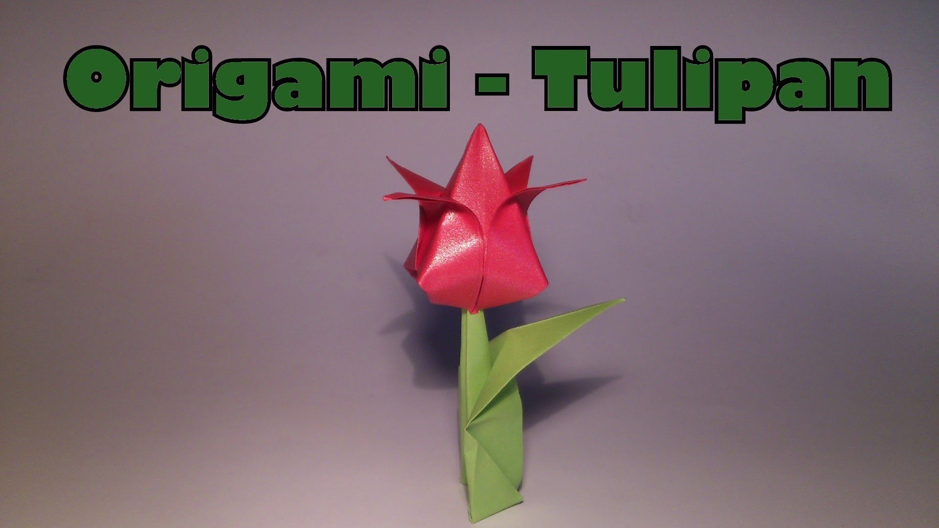 Origami - Tulipan (Chcecie VLOGA?)