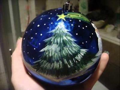 Ozdabianie bombek , Painting Christmas bulb