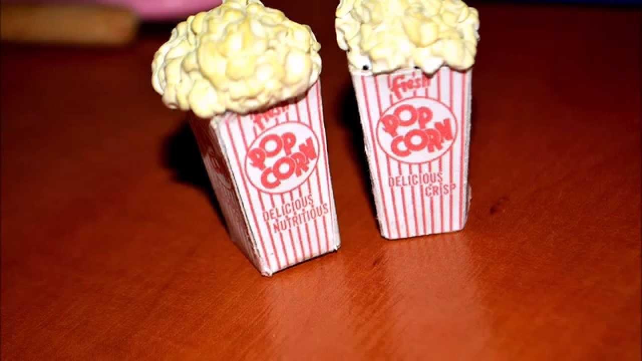 Popcorn -Polymer clay.Popcorn z modeliny