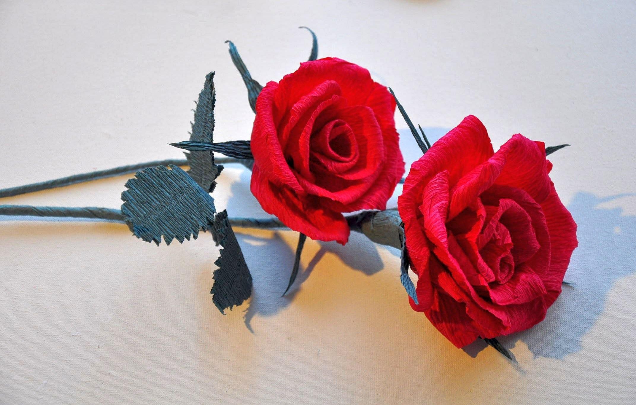 Róża z bibuły krok po kroku # Kwiaty z bibuły # Crepe paper rose DIY