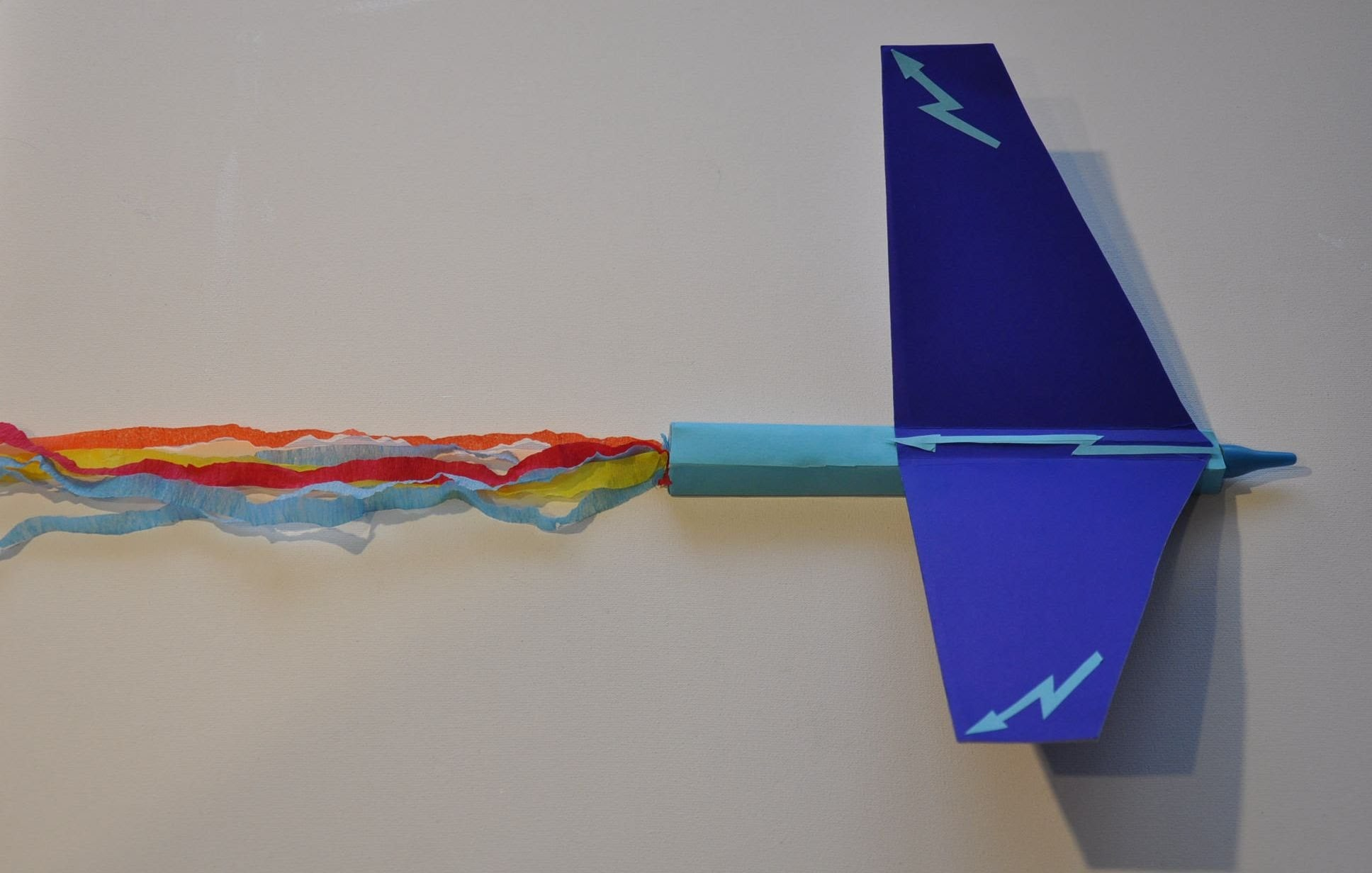 Samolot z papieru styropianu i bibuły # Paper plane DIY