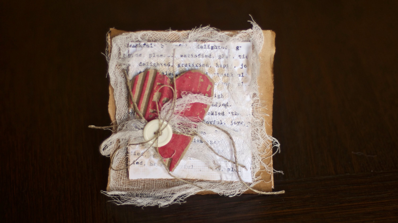 Scrapbooking tutorial - kartka z sercem