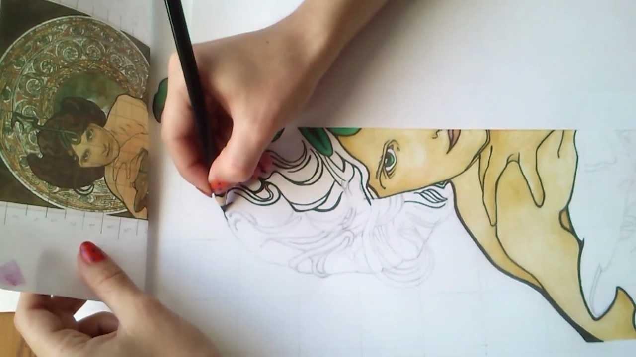 DIY: Dziewczyna Alfonsa 02 art tutorial