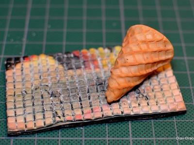 Forma do wafelków z modeliny. Polymer clay mould for waffles [TUTORIAL]