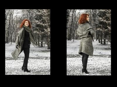Jak uszyć kardigan sweter bez wykroju by Słonecznaradzi.pl. How to make a cardigan sweater