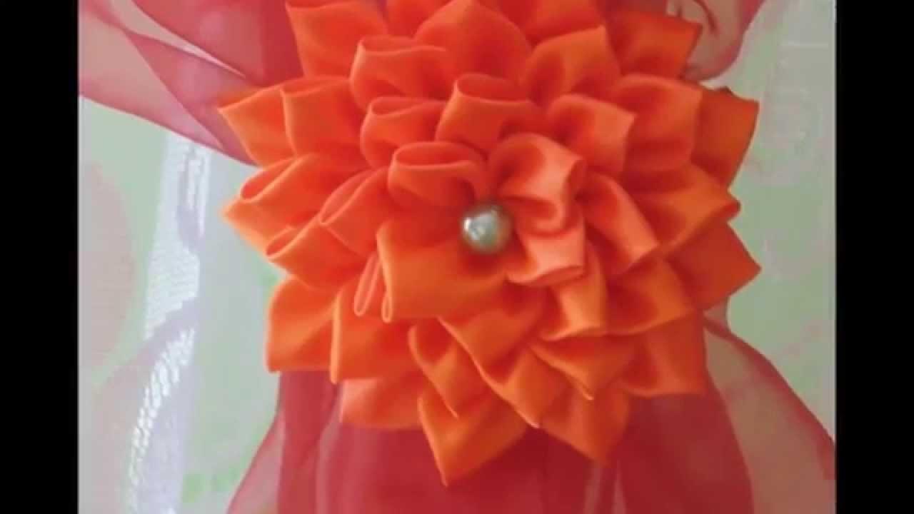 Kanzashi: Kwiatek spinka. klamra do firan i zasłon