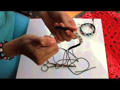 Kurs - jak zrobić bransoletkę shamballa tube,rurke,tunel (How to Make A Shamballa tube Bracelet)
