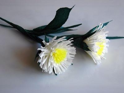 Kwiaty z bibuły  najprostsze  krok po kroku  Crepe paper flowers DIY