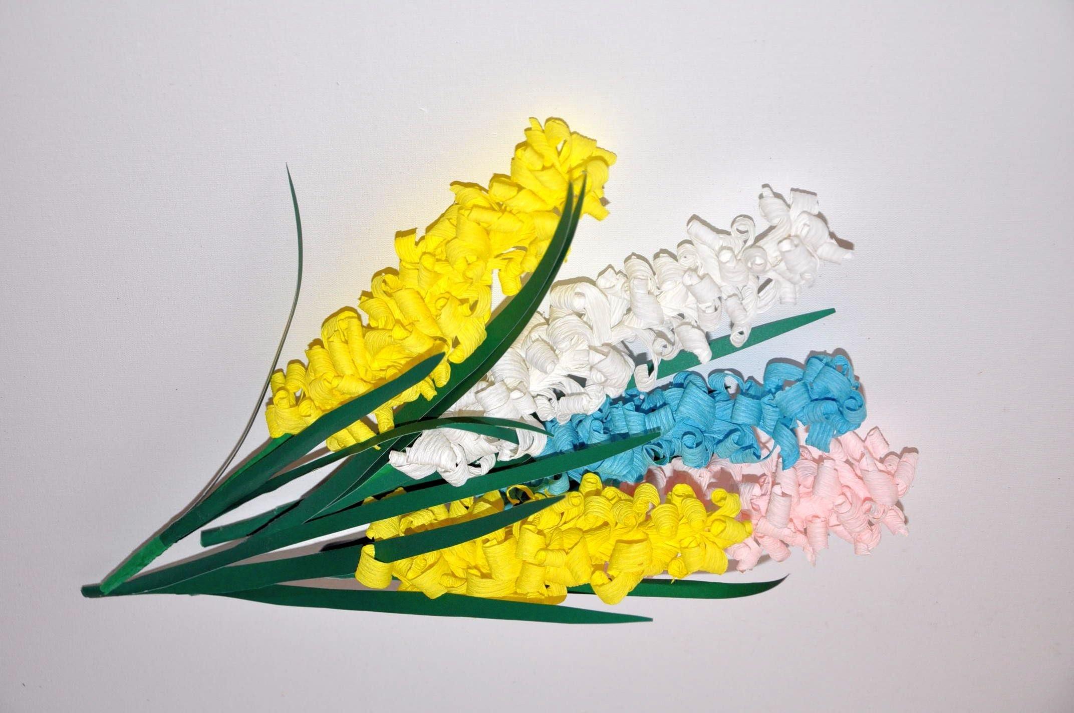 Kwiaty z bibuły skręcane na patyku  Handmade paper flowers DIY
