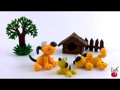 LEPIMY! PIESEK z modeliny tutorial PUPPY - polymer clay