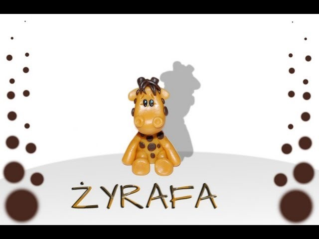 Lepiołki: Żyrafa TUTORIAL giraffe, polymer clay, made hand,