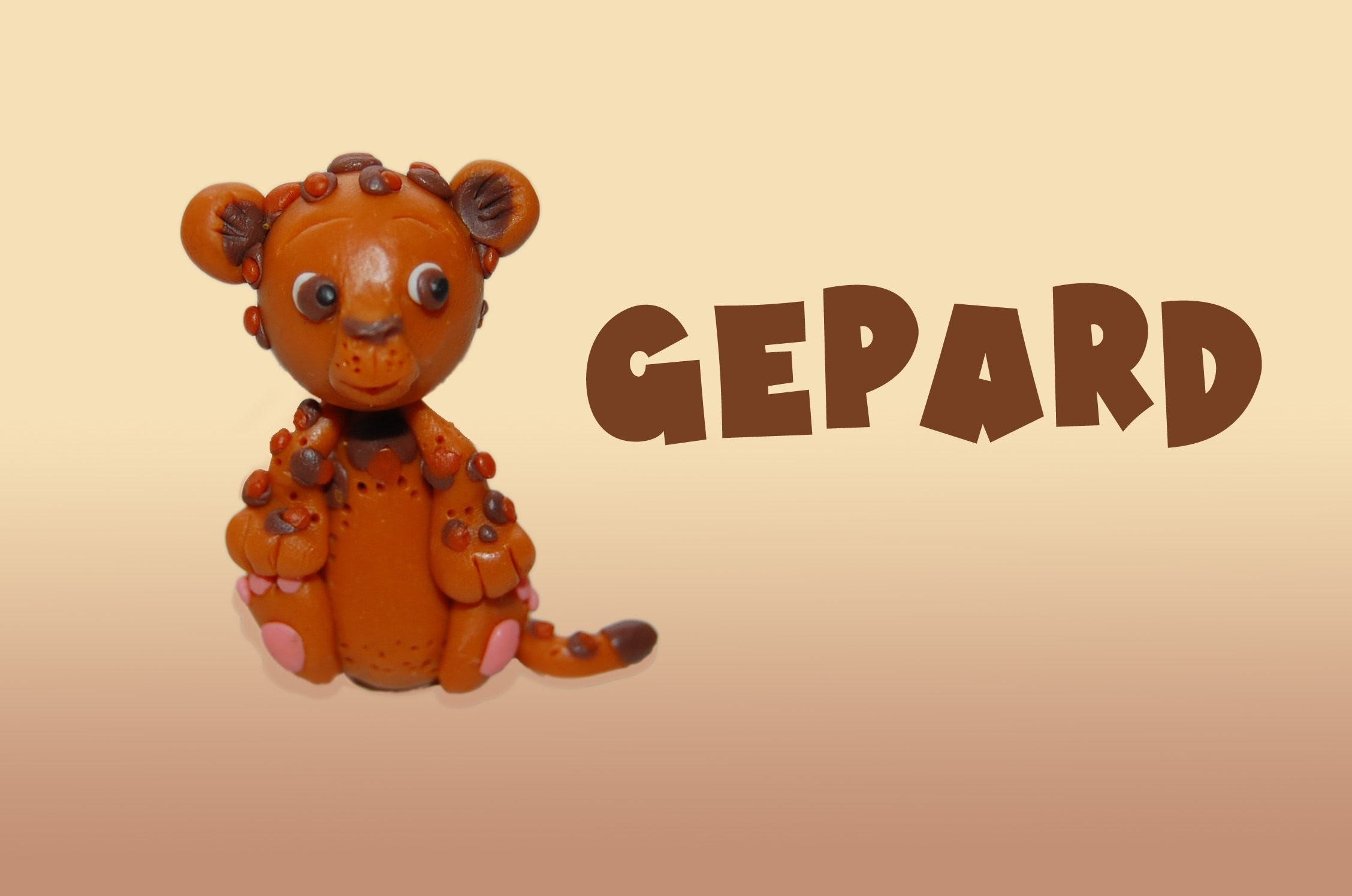 Lepiołki: GEPARD, CHEETAH ░▓██TUTORiAL██▓▒░  polymer clay, made hand