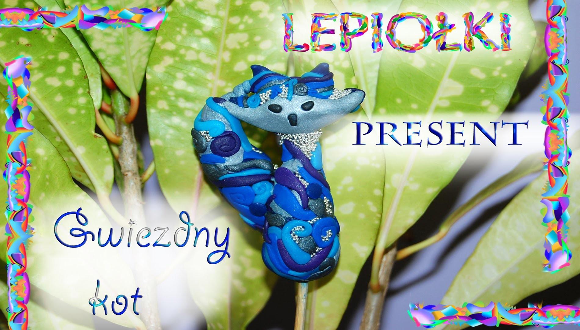 Lepiołki: Magiczny gwiezdny kot TUTORIAL, Magic stellar cat, polymer clay, made hand, hand made