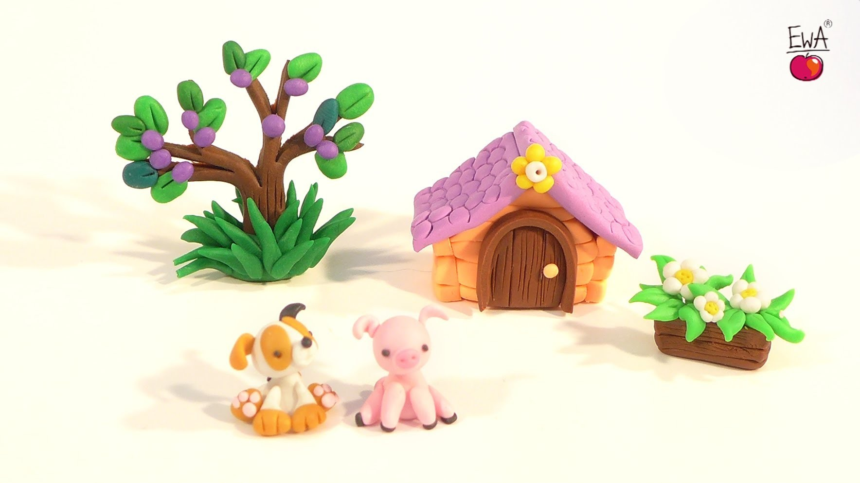 LET'S CLAY! tyci ŚWINKA tiny Piglet - polymer clay tutorial